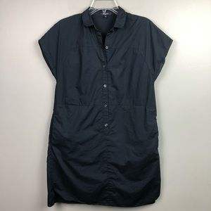 Madewell Shirt Dress Navy Blue Button Down Small